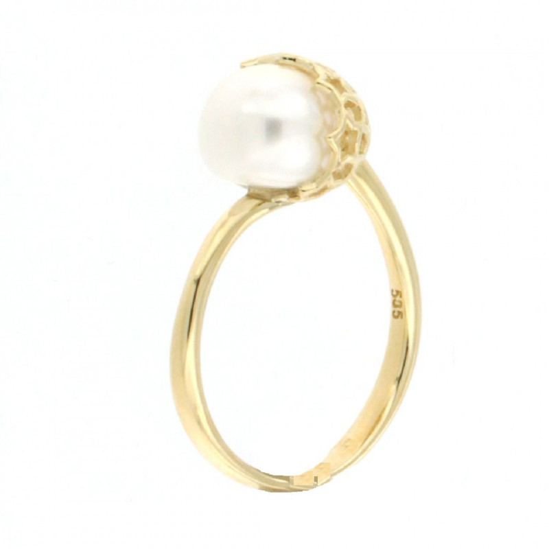 RING 14K GOLD WITH PEARL