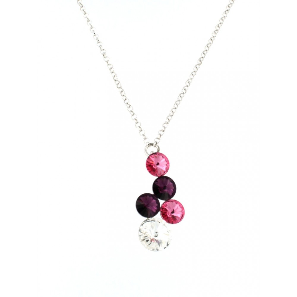 PENDANT SILVER 925 RHODIUM PLATED WITH CRYSTAL SWAROVSKI