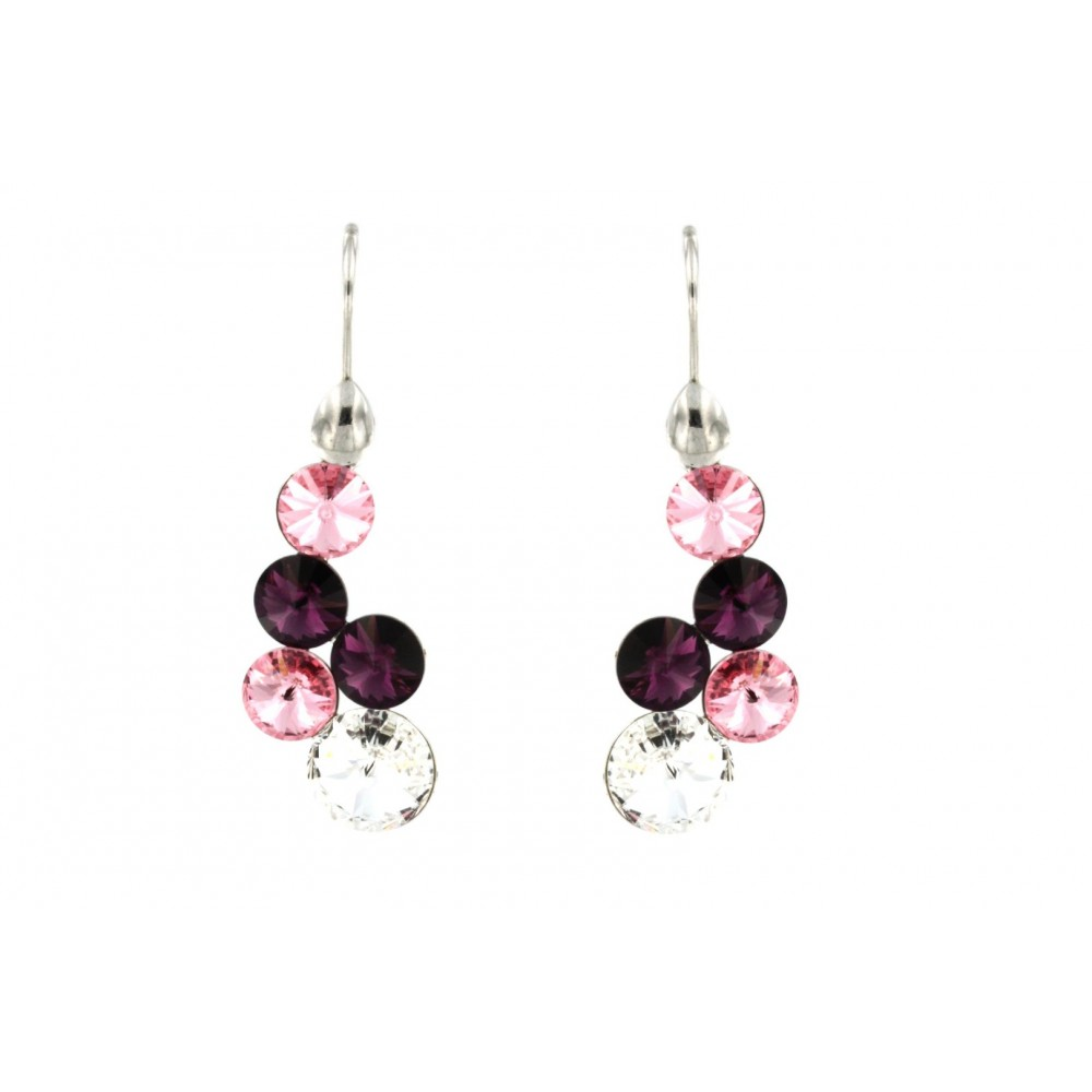EARRINGS SILVER 925 RHODIUM PLATED WITH CRYSTAL SWAROVSKI