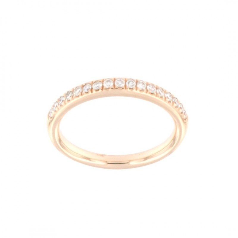 RING 14K ROSE GOLD WITH DIAMONDS