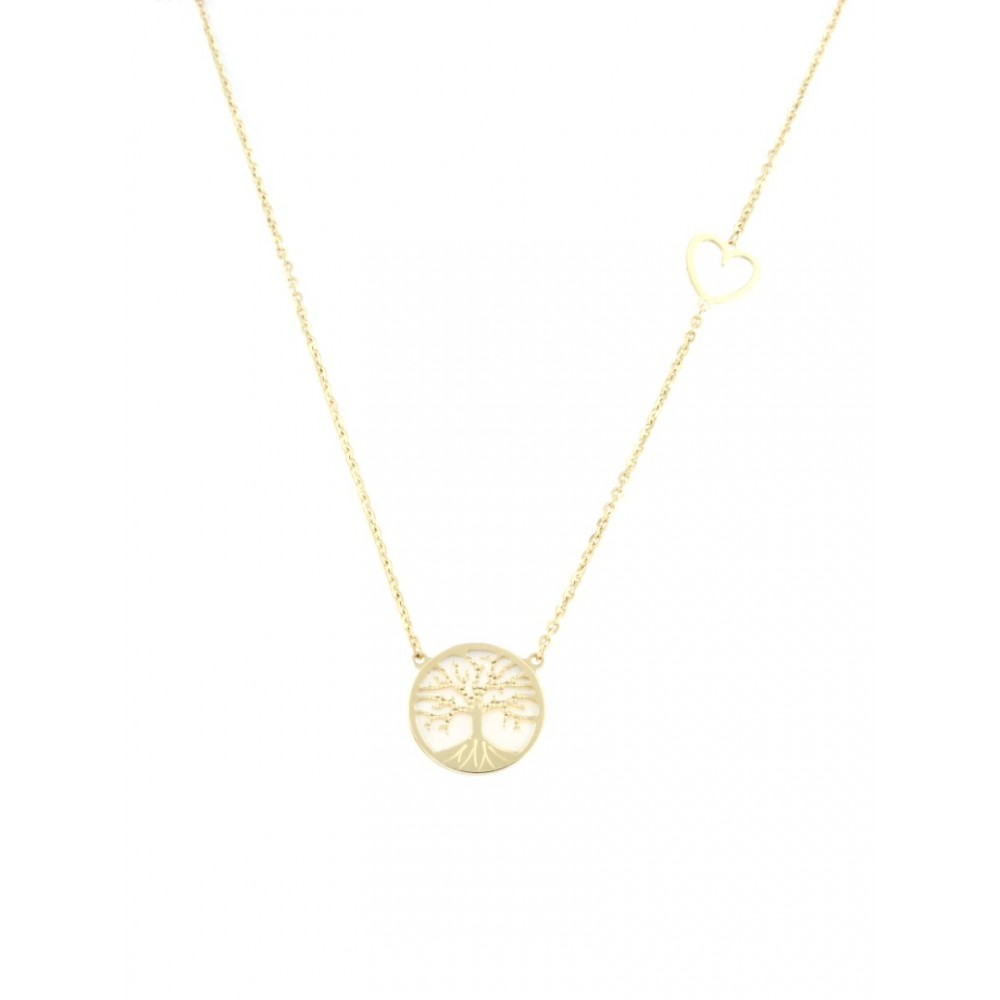 NECKLACE 14K GOLD WITH MOTHER OF PEARL