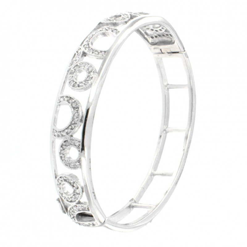 BRACELET SILVER 925 RHODIUM PLATED WITH ZIRCON