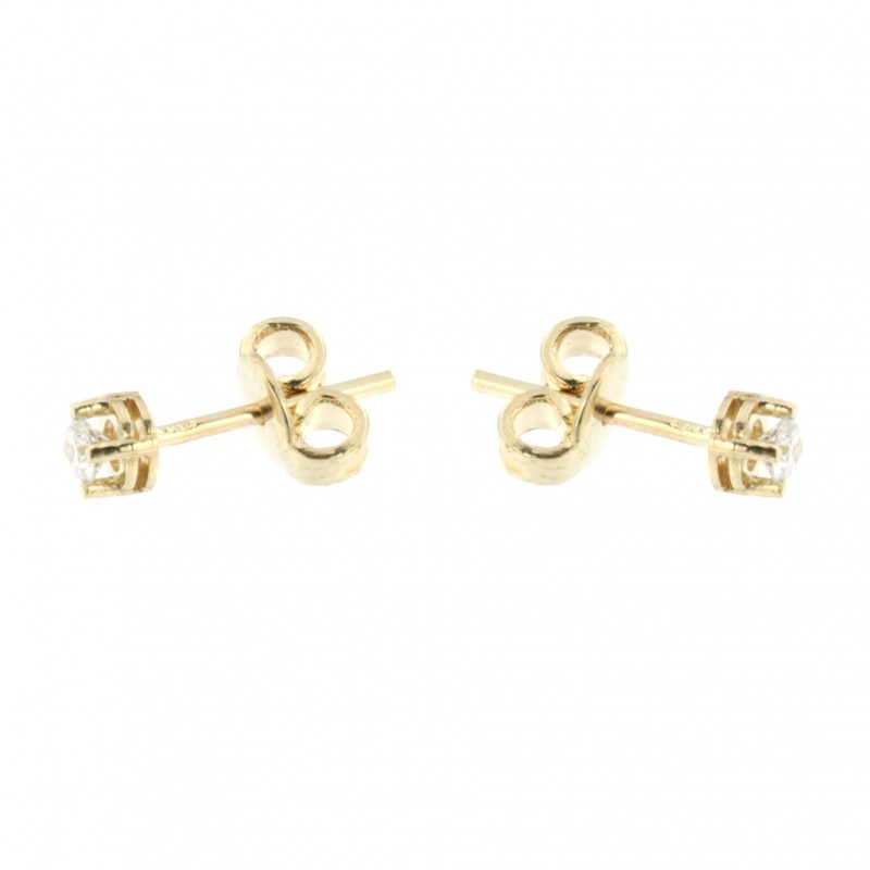 EARRINGS 14K GOLD WITH DIAMONDS