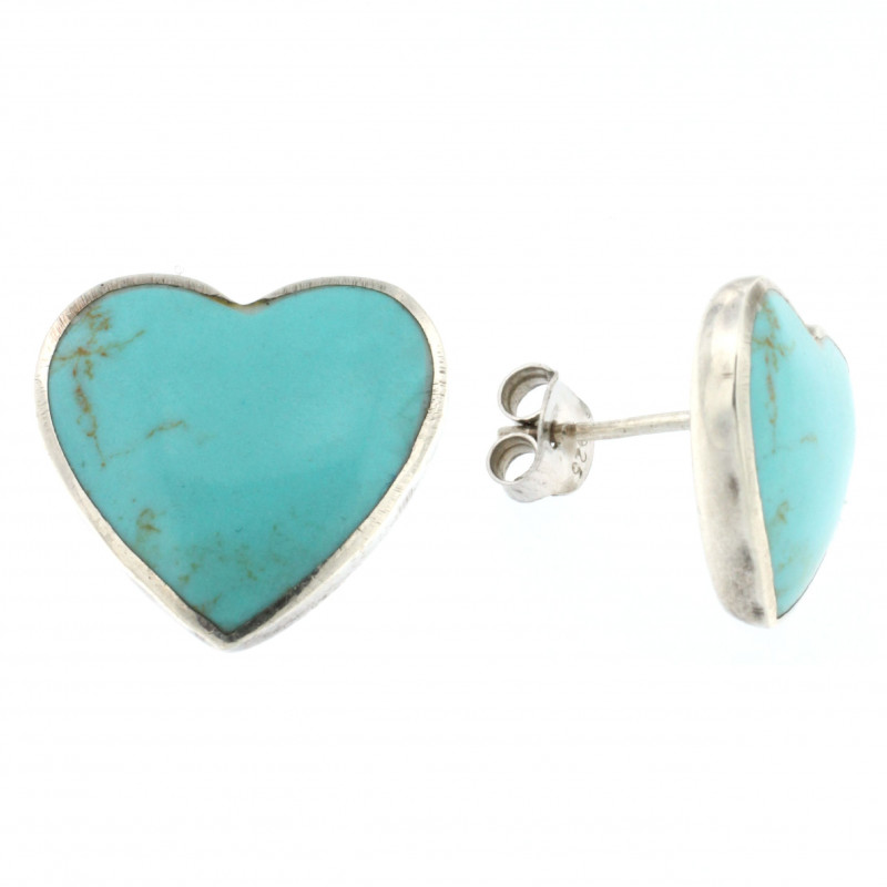 EARRINGS SILVER 925 RHODIUM PLATED WITH TURQUOISE