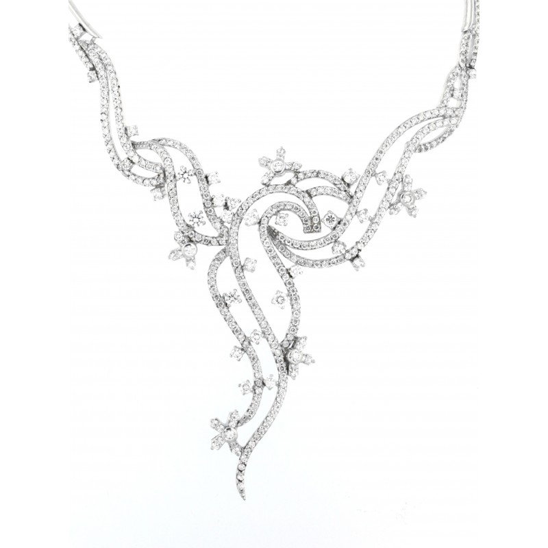 NECKLACE SILVER 925 RHODIUM PLATED WITH ZIRCON