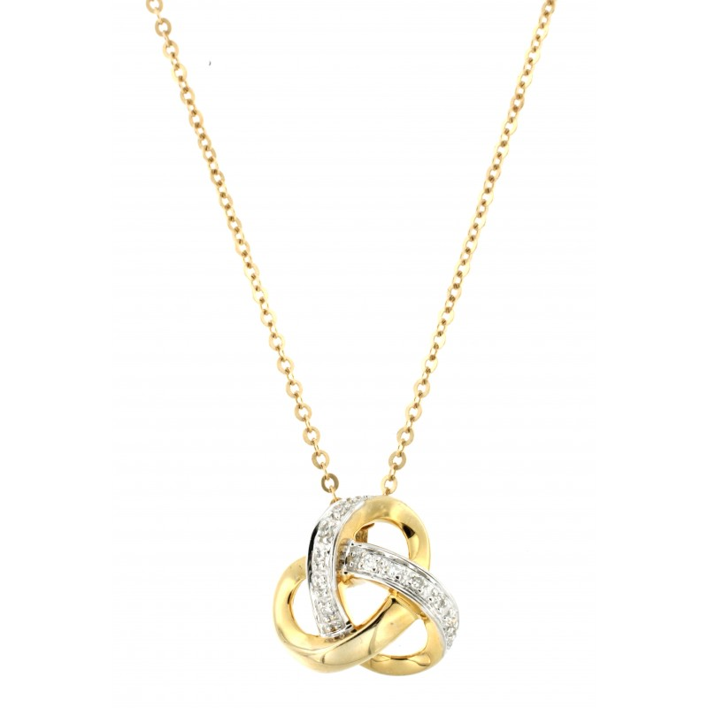 NECKLACE 14K GOLD WITH DIAMONDS