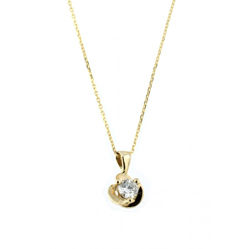 NECKLACE 14K GOLD WITH DIAMOND