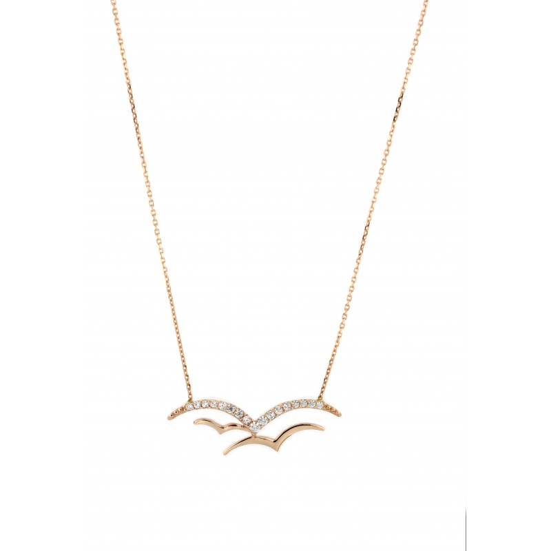 NECKLACE 14K GOLD WITH ZIRCON