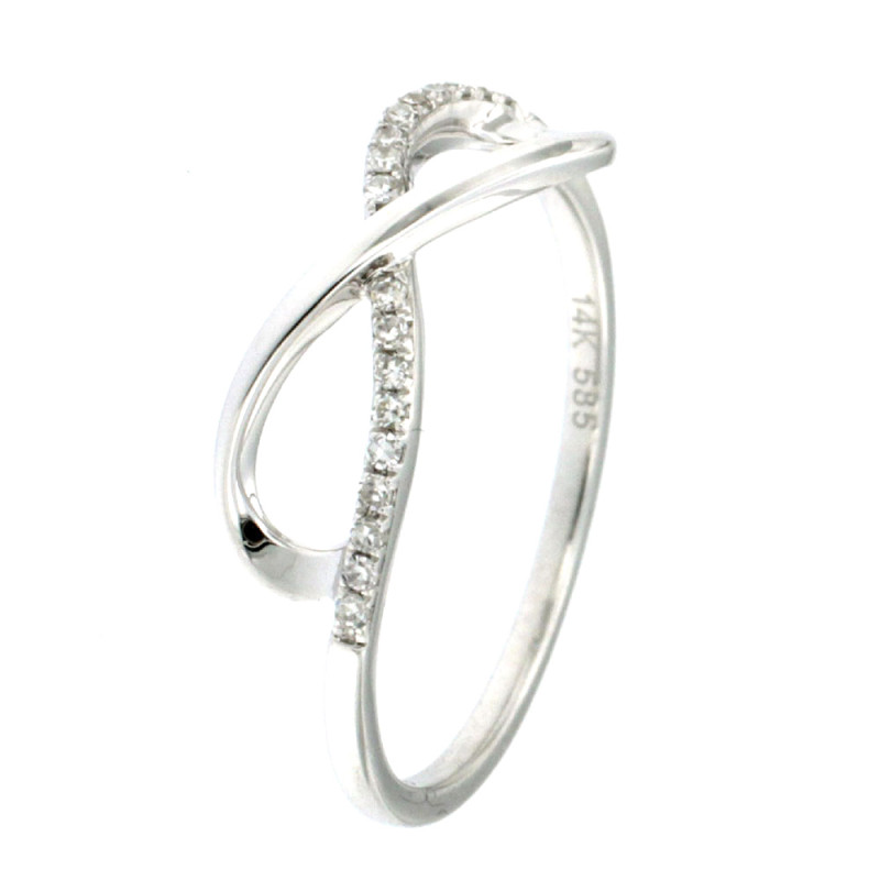 RING 14K WHITE GOLD WITH DIAMONDS