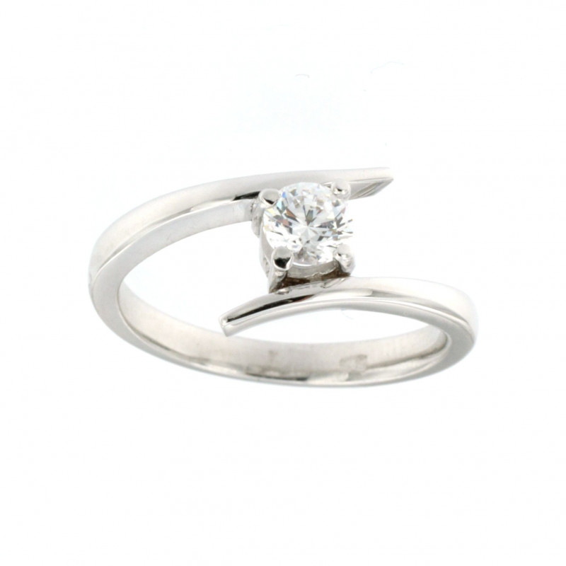 RING 14K WHITE GOLD WITH ZIRCON