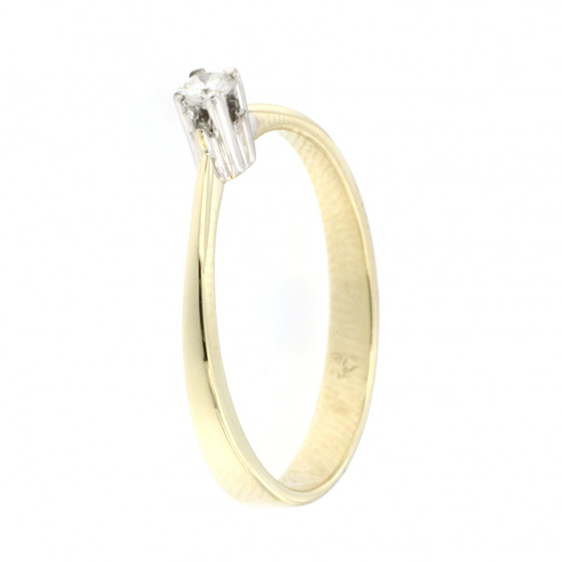 RING 14K GOLD WITH DIAMOND