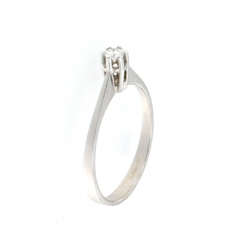 RING 14K WHITE GOLD WITH DIAMOND