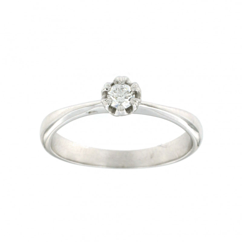 RING 14K WHITE GOLD WITH DIAMOND