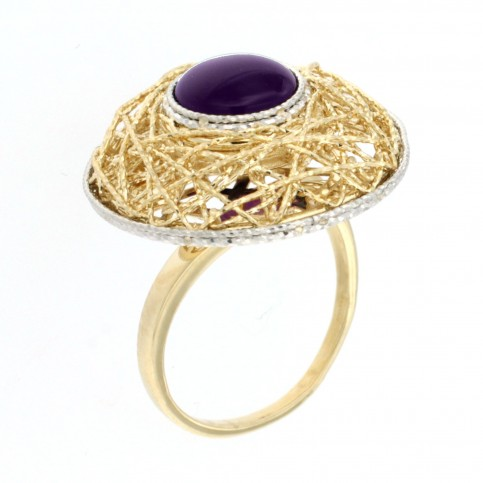 RING 14K GOLD WITH AMETHYST